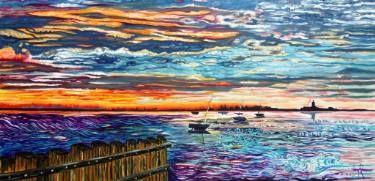 """Saatchi Art Artist Pascal Lamy Rousseau; Painting, """"Plénitude aquatique"""" #art"""