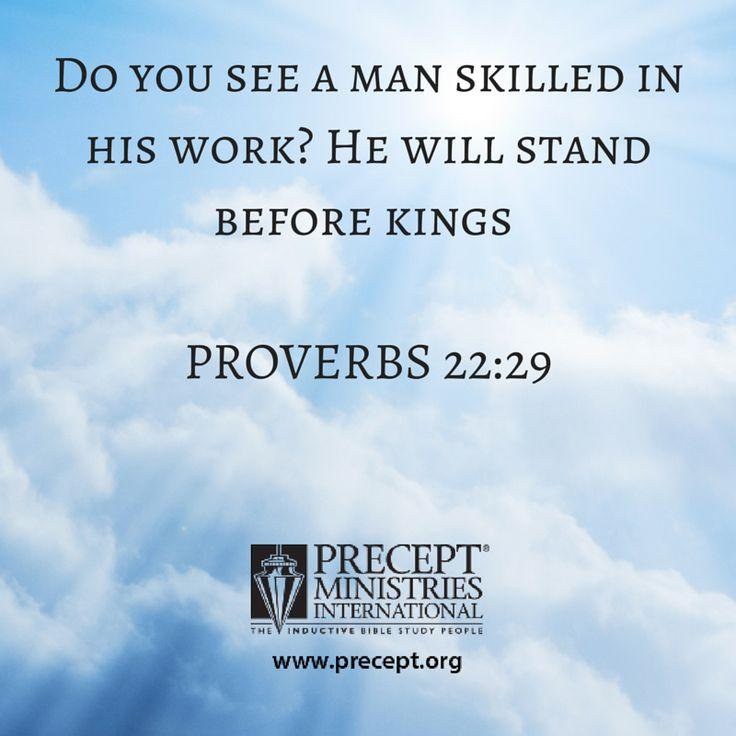 Proverbs 22:29