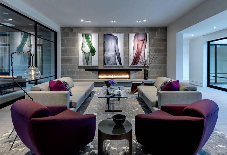 Un salon coloré et moderne. #décoration #luxueuse #inspiration