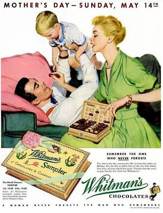Whitman's Chocolat vintage Mothers day ad-HOLIDAY COLLECTIBLES