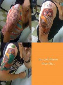 Tatuagens criativas de corujas variadas 40   Tinta na Pele