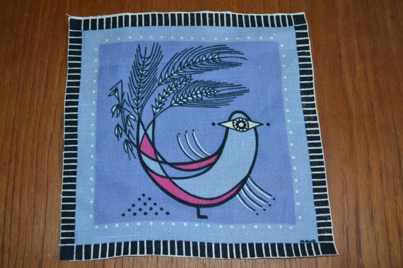 Swedish handprinted textile tablecloth by Scandinaviavandesign, kr80.00