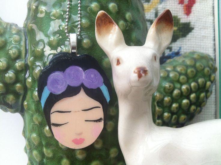 Frida Ketting paarse roosjes zoownatas door zoownatas op Etsy