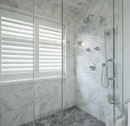 Haute Indoor Couture: Windows In Showers (Possibly use an outdoor louvered shutter??)