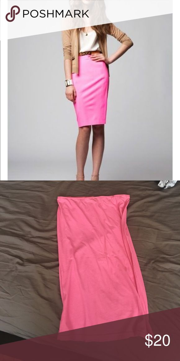 AMERICAN apparel Neon pink pencil skirt 💗💕 The cutest neon pink pencil skirt. Tight fit. American Apparel Skirts Pencil