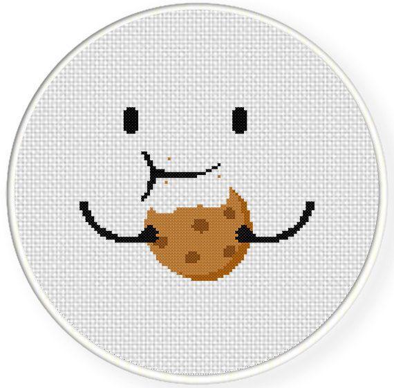 INSTANT DOWNLOAD Stitch Nomnom Cookie PDF Cross Stitch Pattern Needlecraft