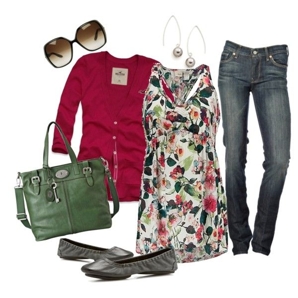 Daytrip Retro Flowers top, created by cheesemyhead on Polyvore