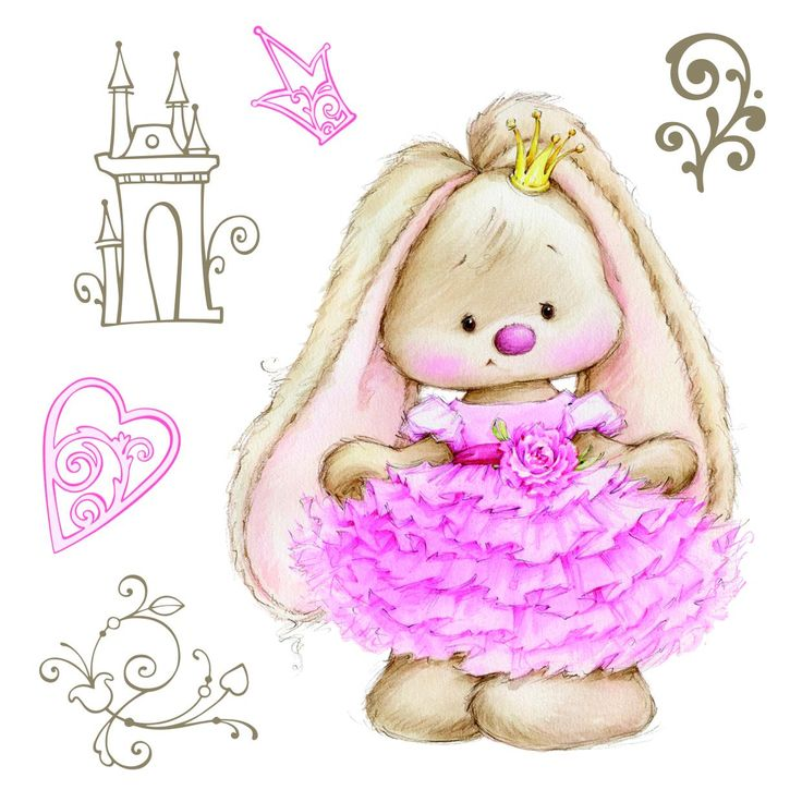 ScrapBerry's Summer Joy: Bunny Princess - set of clear stamps