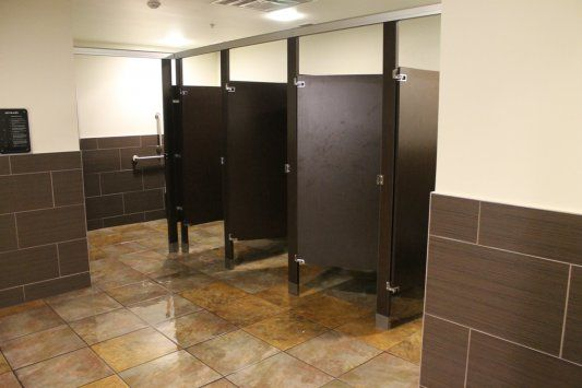 Bathroom partitions golds gym northwest oklahoma city