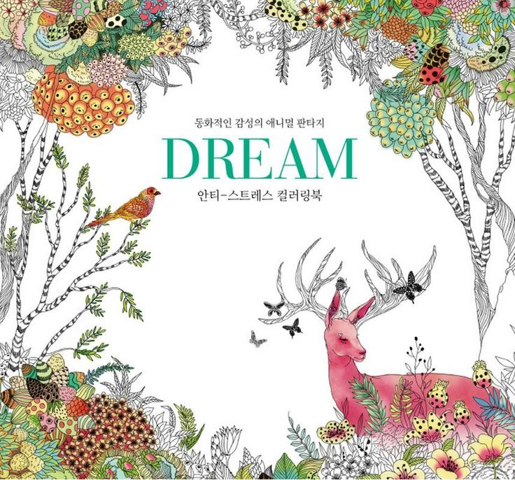Dream Coloring Book Anti Stress Fairy Tale Sensibility Animal Fantasy ArtTherapy