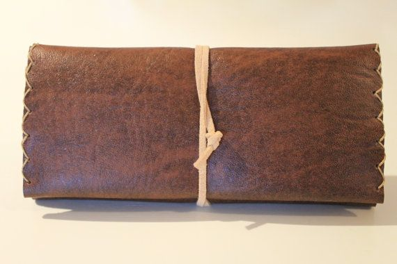 leather tobacco pouch  FREE shipping by ADAMSBRO3 on Etsy