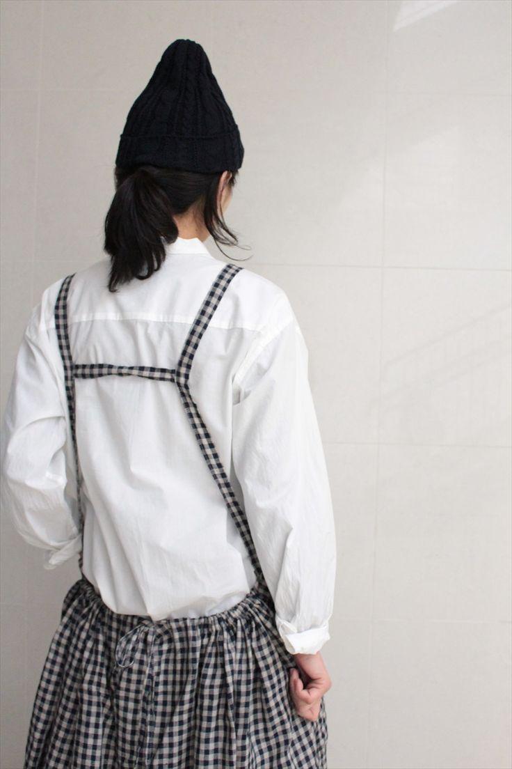 Yarmo<br>Bib Apron DRESS 【GINGHAM】 - Other Brand,ONE-PIECE - Veritecoeur(ヴェリテクール)