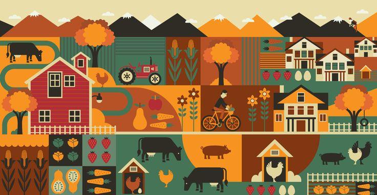 Dudley Creek organic farm illustration