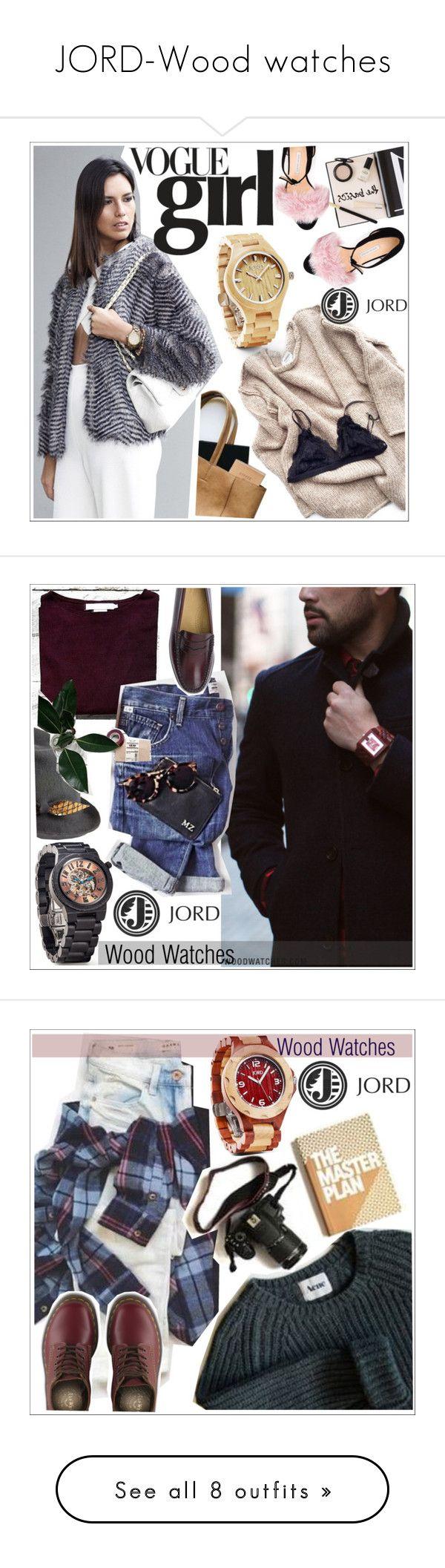 """JORD-Wood watches"" by teoecar ❤ liked on Polyvore featuring jord, moda, Nuevo, Fieldcrest, Prada, Bionda Castana, Justine Hats, G.H. Bass & Co., Dr. Martens e Nuuna"