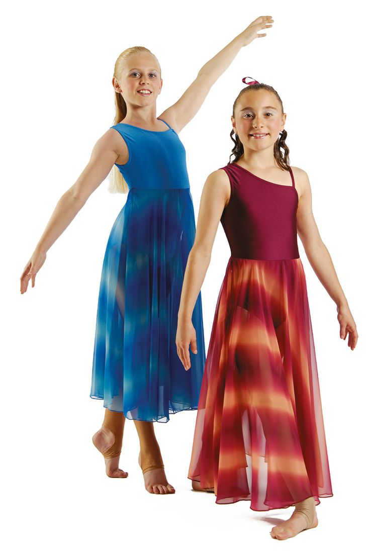 The printed georgette skirts in Rhapsody are what sets the costume off and there is nothing stopping you from adding some stones to the leotard if you want to make it that little bit more special.