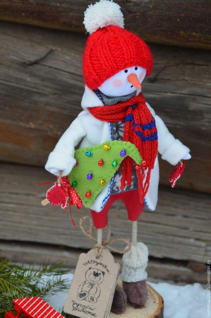 Купить Снеговичок - ярко-красный, снеговик, рождественский подарок, Новый Год…