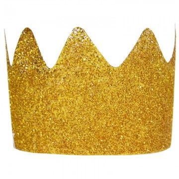 My Little Day 8 Gold Glitter Crowns