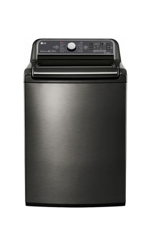 LG WT7600H 27 Inch Wide 5.2 Cu. Ft. Energy Star Rated Top Loading Washer with Tr Black Stainless Steel Washers Washer Top Loading