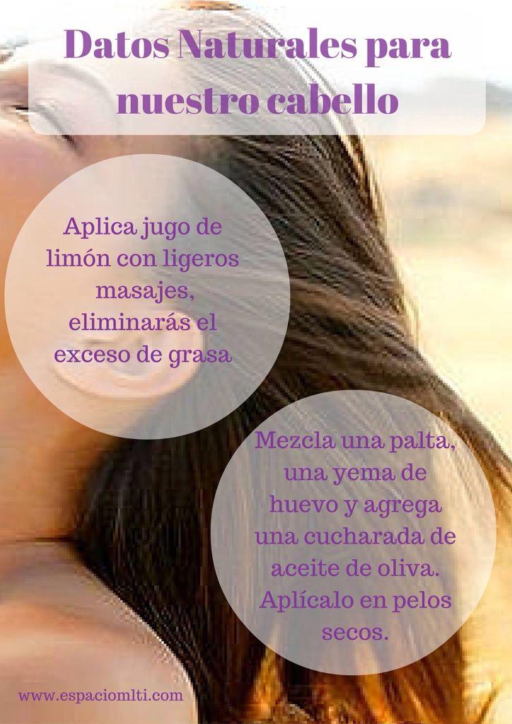 Estos dos y prácticos consejos, son para aplicarlos con el pelo húmedo, antes del lavado tradicional.  Datos naturales