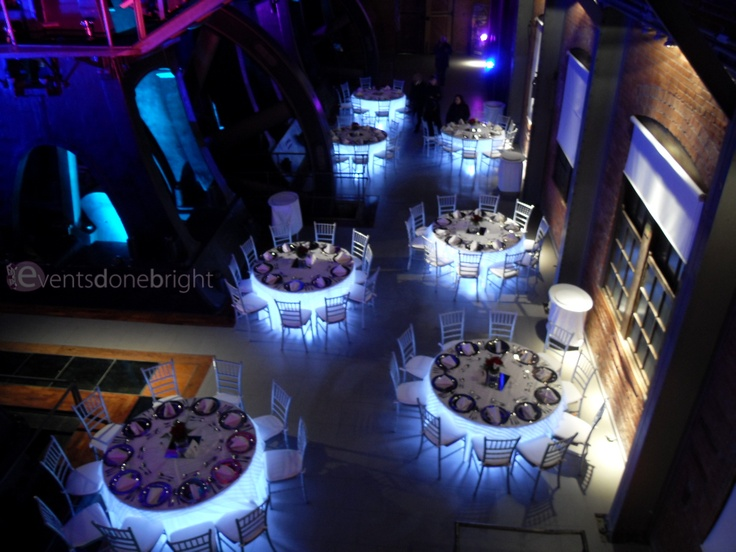Under Table Lighting Adds A Special Wow Factor Light Table Event Lighting