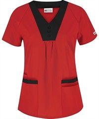 UA Best Buy Scrubs Women's Contrast Raglan Sleeve Top, Style #  CT842 #scrubs, #medicaluniforms, #red, #fashion, #nurse