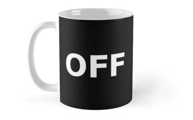 On - Off (mug design) by Stock Image Folio