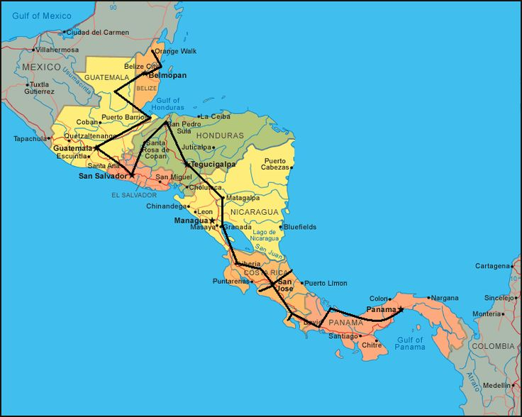 Central America Travel Itinerary, with a quick stop in the Bay Islands --- @Jenny Emilia ---next trip???