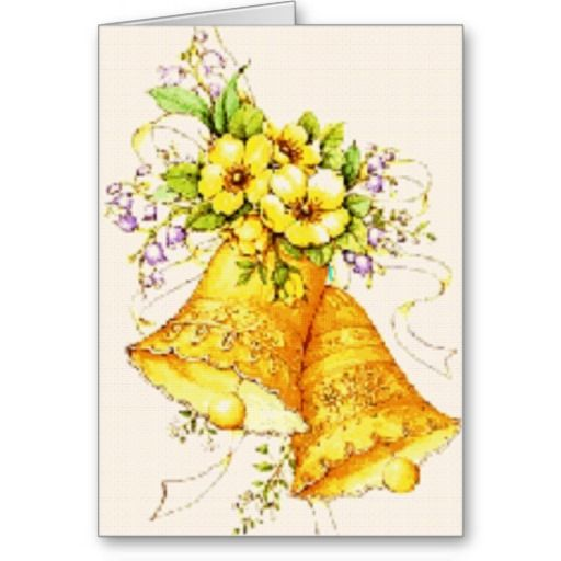 Gold Wedding Bells: 65 Best Images About Anniversary Wedding Cards On Pinterest