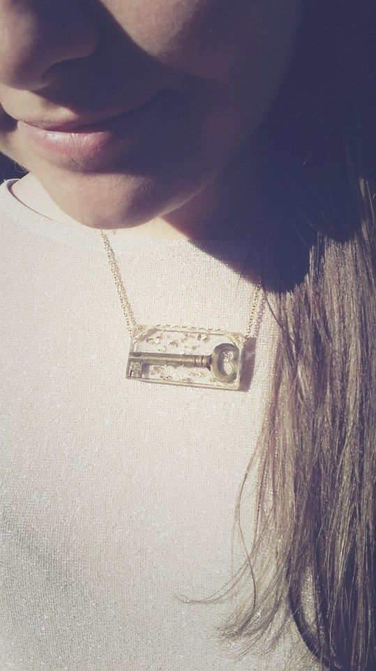 Old Key in Resin pendent, Handmade necklaces from MAR Charity collection