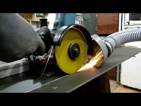 Device for smooth cutting of sheet metal and vale using angle grinders - YouTube
