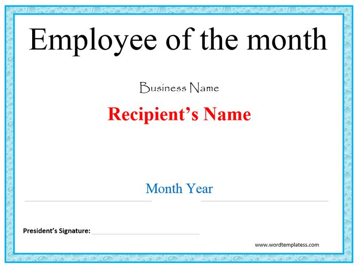 done certificate template employee the month award free templates