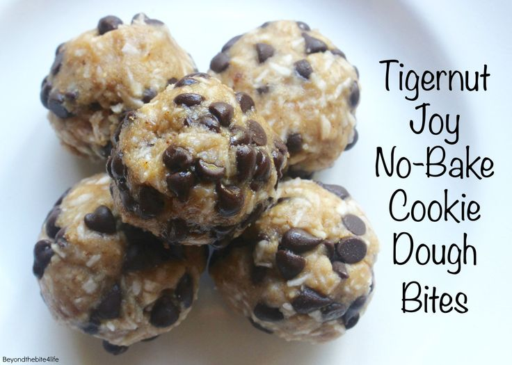 """Tigernut Joy"" Cookie Dough Bites - An AIP friendly riff on ""Almond Joys"" featuring Vital Protein's Collagen.  (Paleo, AIP-friendly)"