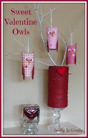 Valentine's Day, Paper Crafts, Owls. Fun Craft to do with kiddos. #valentinesday #valentinescraft #owl