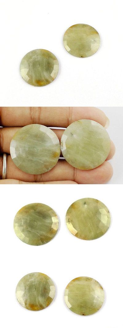 Natural Sapphires 4644: 1 Pair Natural Sapphire Round Shape 29Mm 75Cts Rose Cut Jewelry Loose Gemstone -> BUY IT NOW ONLY: $60.91 on eBay!