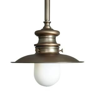 1-Light Brushed Bronze Lantern Pendant Light-25416-59 at The Home Depot