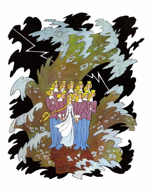 Ганс Христиан Андерсен - Дикие лебеди (иллюстрация Эрика Булатова и Олега Васильева)