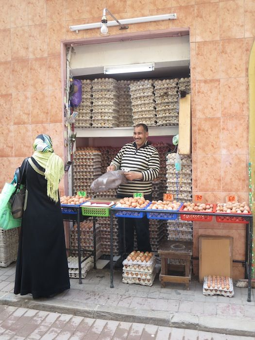 Egg seller, Tangier, Morocco