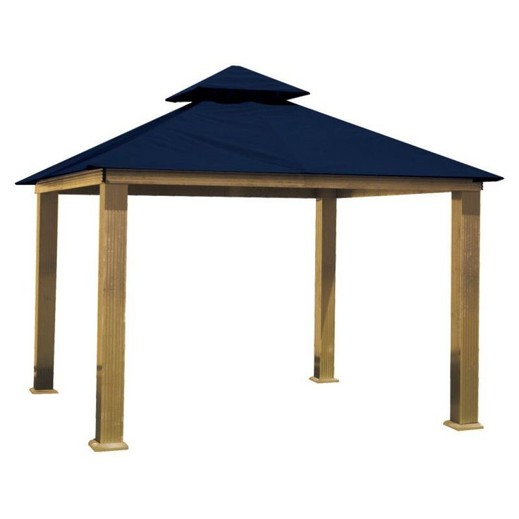 ACACIA by Riverstone Industries STC Seville 12-ft. Gazebo Replacement Canopy Captain Navy Sunbrella - STC12-CAPTAIN NAVY