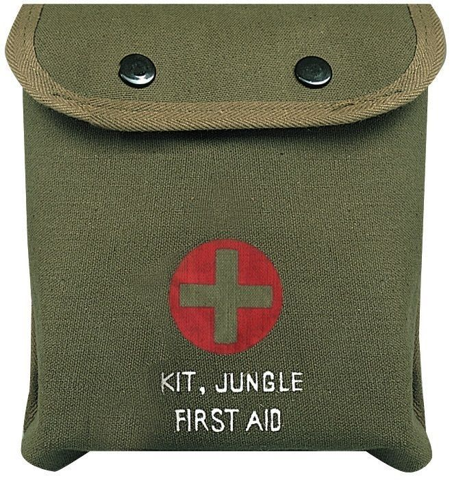 Olive Drab Military Jungle First Aid Kit