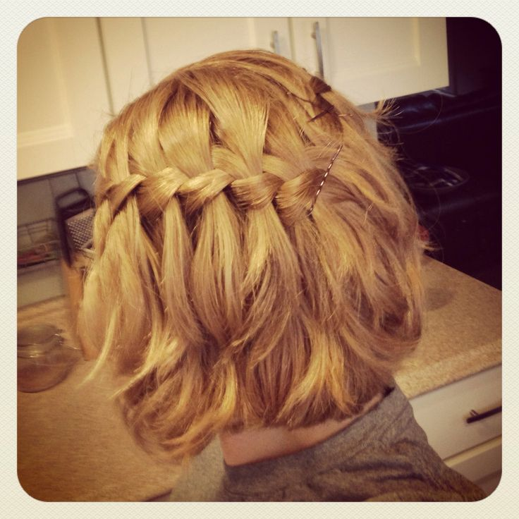 Brilliant 1000 Images About Short Hair Braids On Pinterest Waterfall Short Hairstyles Gunalazisus