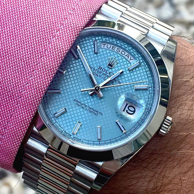 DAY DATE 40 platinum  is dedicated to @dapper.watchescongrats for reaching 1...   http://ift.tt/2cBdL3X shares Rolex Watches collection #Get #men #rolex #watches #fashion