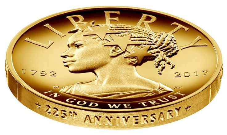 The United States Mint has unveiled a $100 gold coin featuring an African-American woman as the face of Lady Liberty for the first time in the history of U.S. currency.