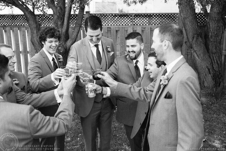 Rockway Vineyards Wedding, Niagara - A toast to the soon to be wed groom #sweetheartempirephotography