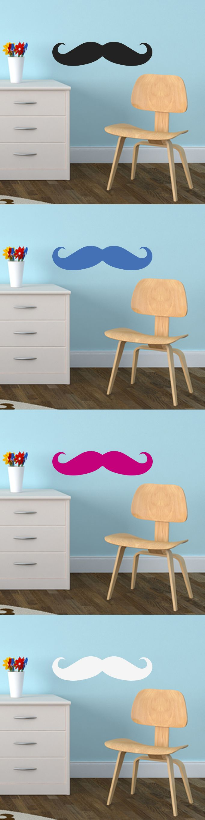 18 mejores imagenes de wall stickers en pinterest estudios de mustache decor decal vinyl wall sticker