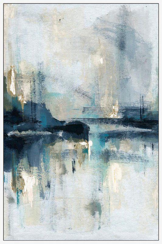 'Senne Flueve' Framed Acrylic Painting Print on Canvas