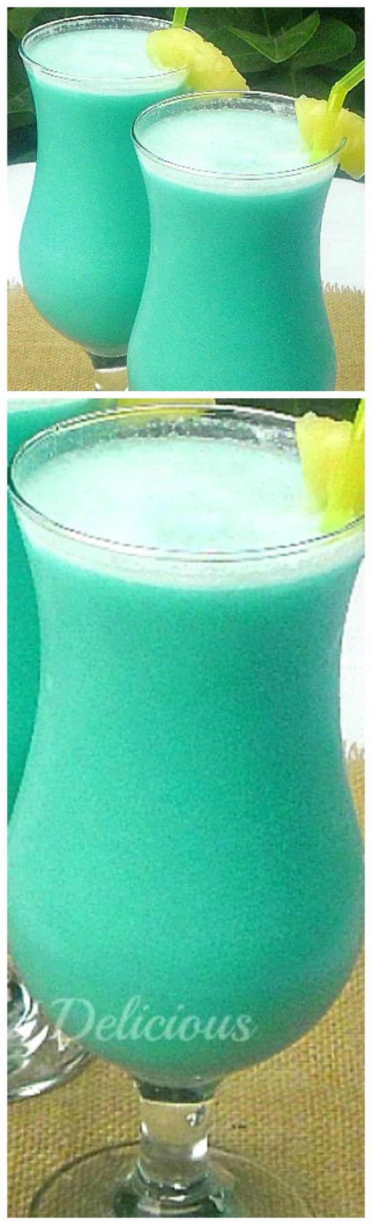 Blue Hawaiian Cocktail ~ Blue Curacao, Coconut Cream, White Rum, Fresh Pineapple Juice