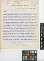 Letter from James A. Weale to Sir William Thiselton-Dyer; from Williams, Weale & Co, English and Foreign Timber Merchants, Boundary Place, Liverpool; 18 Apr 1905; one page letter comprising one image; folio 357