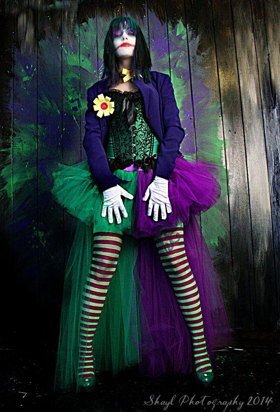 The Joker Adult tutu skirt Cosplay costume formal bustle trail bridal & 129 best JOKER OUTFIT images on Pinterest   Joker Joker outfit and ...