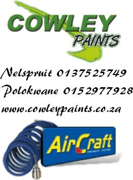 Spray Guns and other Air Craft tools Now at Cowley Paints Nelspruit