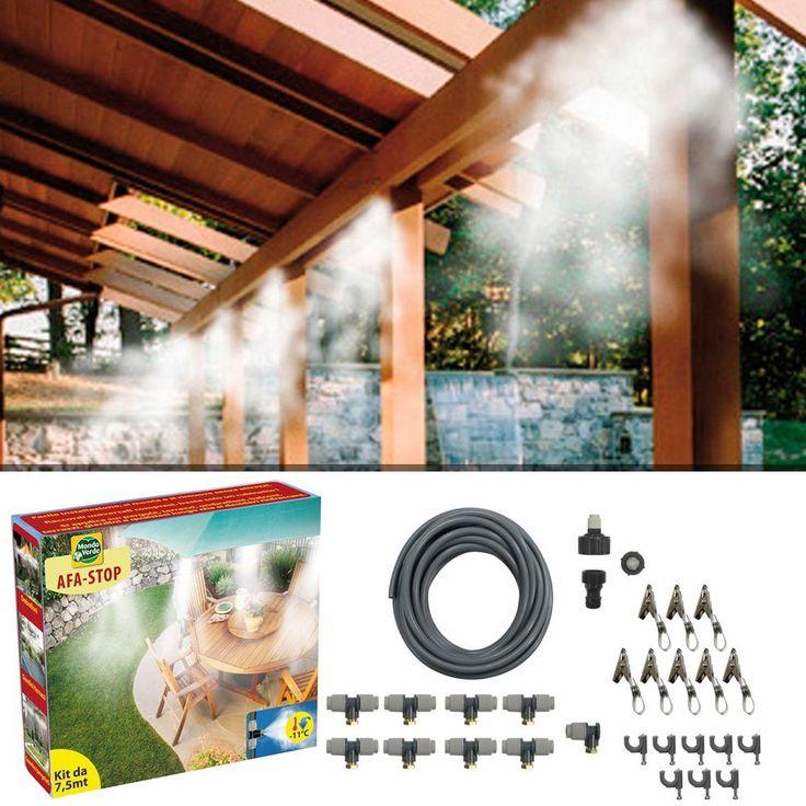 kit nebulizzazione acqua per casa e giardino. Afa stop da 15 mt #afastop #nebulizzatore #afastop15